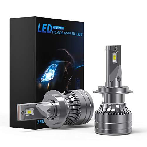 ZREE Ampoule H7 LED, 2X65W Ampoules H7 LED Voiture IP68 Etanche Auto Car Lampe 12V 6500K 20000 LM Phares pour Voiture et Moto - 2 Ans de Garantie.