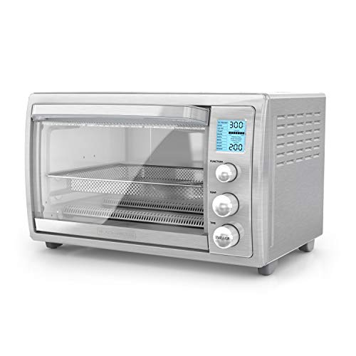 """BLACK+DECKER TOD5035SS, 8-Slices or 12"""" Pizza, Stainless Steel"""