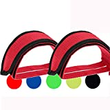 Qeedy Bike Pedal Straps Pedal 2 Pieces Universal Bicycle Feet Strap Pedal Straps Toe Clips Straps Tape for Fixed Gear Bike (Red)