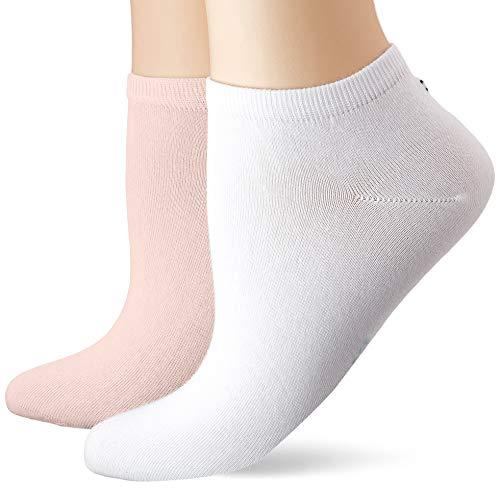 Tommy Hilfiger Damen TH Women Sneaker 2P Füßlinge, Rosa (Light Pink 016), (Herstellergröße: 39/42) (2er Pack)