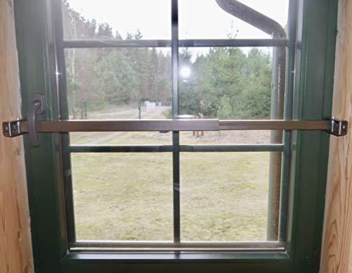 ERABOS® - Einbruchschutz [NEU2020] Sicherungsstange für Fenster/Türen | MIT KIPPSTELLUNGS-SCHUTZ | 57-100cm | MASSIVER STAHL | braun | auch in WEISS erhältlich