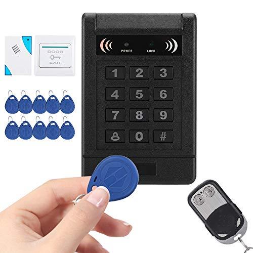 Komplettes Set RFID Türzugriffskontrollsystem EM ID Karte Passwort Türzugriffskontrolle, 180 Magnetschloss Fernbedienung Türklingel Power Exit-Taste 10 Induktionsschlüssel