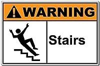 品質の金属ティンサイン-警告:階段3716鉄の絵ヴィンテージアルミニウムメタルプラーク警告サインティンアートウォールインテリアヴィンテージ装飾サイン店のホームヤードパブバーコーヒー