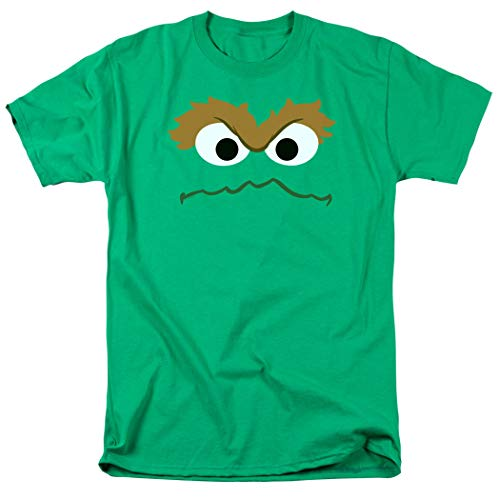 Sesame Street Oscar The Grouch Face T Shirt & Stickers (XX-Large)