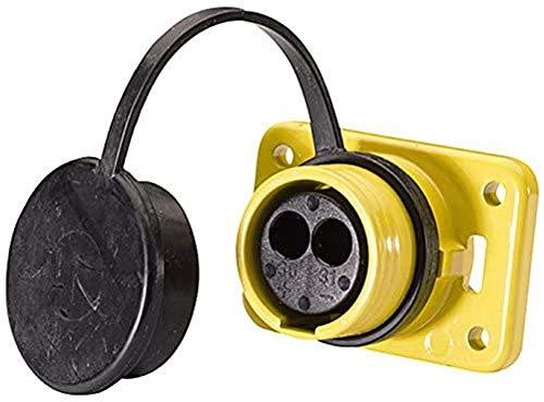 HELLA 8JB 010 806-001 Steckdose - 2-polig - Stecker: Crimpkontakt - gelb