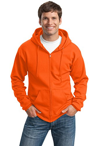 Port & Company® Tall Essential Fleece Full-Zip Hooded Sweatshirt. PC90ZHT Safety