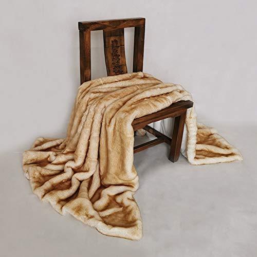 SKYLYZH Manta de Lana de Coral de Estilo británico en la Cama Ropa de Cama para Dormir de Ocio Cama Individual Cama Doble