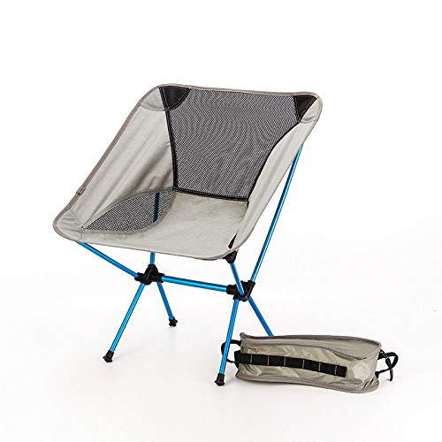 WWVAVA Asiento Portátil Ligero Silla De Pesca Gris Taburete De Camping Plegable Muebles De Exterior Jardín Nuevo Al Portátil Ultra Ligero Sillas,SF73300SB,A