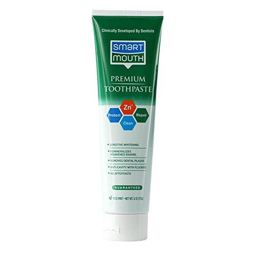 SmartMouth Premium Zinc Ion Toothpaste, Mild Mint 6 oz (Pack of 3)