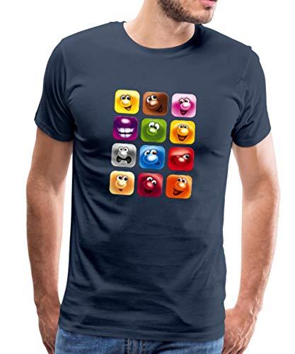 Gelini Charaktere Männer Premium T-Shirt, XL, Navy
