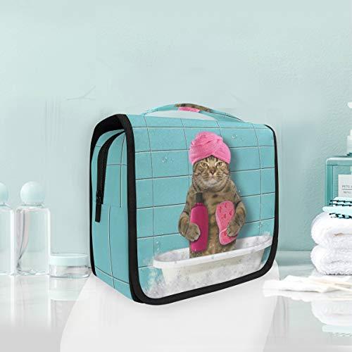 Make-up Kosmetiktasche Badewanne Katze Portable Storage Travel Kulturbeutel