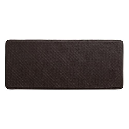 "GelPro Classic Anti-Fatigue Kitchen Comfort Chef Floor Mat, 20x48"", Basketweave Truffle Stain Resistant Surface with 1/2"" Gel Core for Health and Wellness"