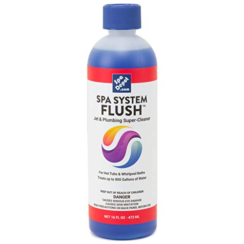 Spa System Flush Super-Cleaner: Hot Tub & Jetted Whirlpool Bath Oily Grime Plumbing Purge 16oz. (1)