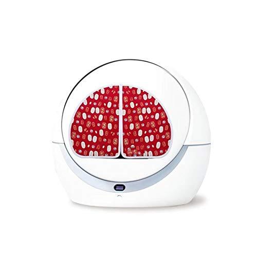 Yousiju Caja de Arena autolimpiante Bandeja de llenado automática de Caja de Arena Kit de Inodoro Grande para Suministro de Mascotas (Color : Red)