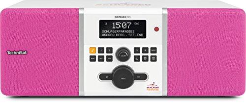 TechniSat Digitradio 305 Schlagerparadies Edition DAB Radio (mit Bassreflex-Holzgehäuse, DAB+, UKW, stationäre Bedienung, Direktwahltaste zu Schlagerparadies) weiß/pink