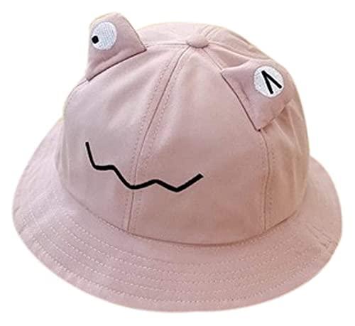 Jsmhh Sombrero de cubo con diseño de ojos de rana de dibujos animados para niños pequeños, con ala ancha, protección solar, plegable, para playa, para caminatas, viajes al aire libre, color (PK)