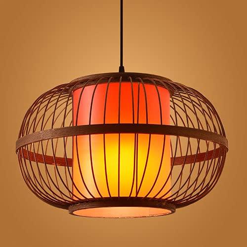 Modeen Portalámparas E27 Hecho A Mano Lámpara De Techo De Ratán Ajustable Lámpara De Ratán De Bambú Sombra De Araña De Estilo Chino Sala De Estar Dormitorio Comedor Lámpara Decorativa De Lámpara