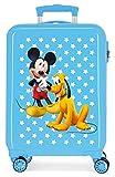 Disney Mickey & Pluto Stars Maleta de Cabina Infantil Azul 55x38x20 cm | Equipaje de Mano,...