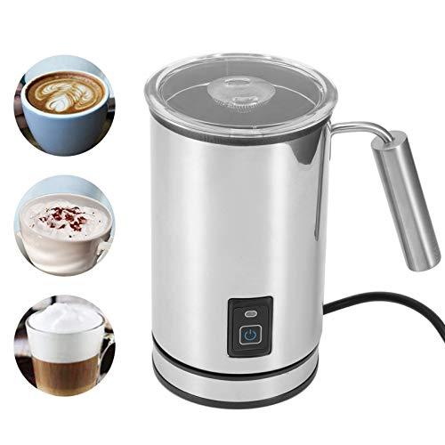 Milchaufschäumer,Milchschäumer Elektrischer, Milchdampfer Edelstahl Automatischer kalter heißer Milchaufschäumer Wärmer (125 ml/250 ml) für Latte Coffee Hot Chocolates Cappuccino, 500 W EU 220-24