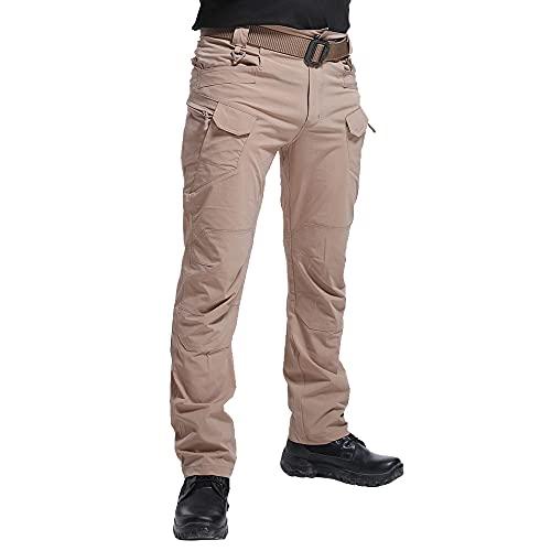 JEPOZRA Pantaloni da Lavoro Trekking Uomo Impermeabili Elastico Pantaloni Cargo Estivi Tattici Pantaloni Montagna Caccia Leggero Traspirante Asciugatura Rapida All'aperto