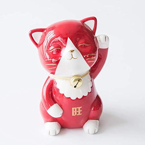 Pintado a mano el dinero Bancos Tentar el gato hucha de cerámica de dinero del Banco alcancía moneda cuadro muchacha de los niños Kid regalo creativo decoración de escritorio hucha cerdito barro WUTON