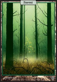 Magic The Gathering - Forest (140) - Unhinged