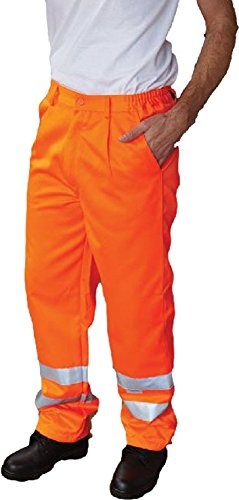 Yoko Warnweste Arbeitshose Polycotton (Regular), Hi Vis Herren Workwear Herren unten