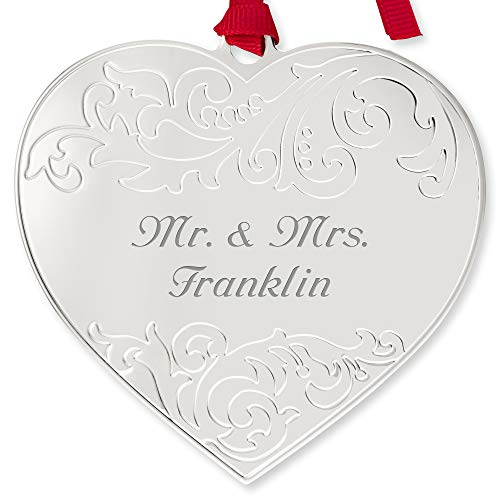 Things Remembered Personalized Embellished Heart Ornament with Engraving Included