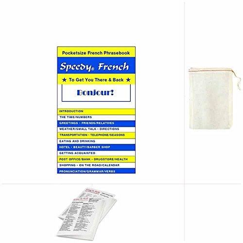 French Phrasebook - Guidebook Speedy Language w/ Bag Travel Set