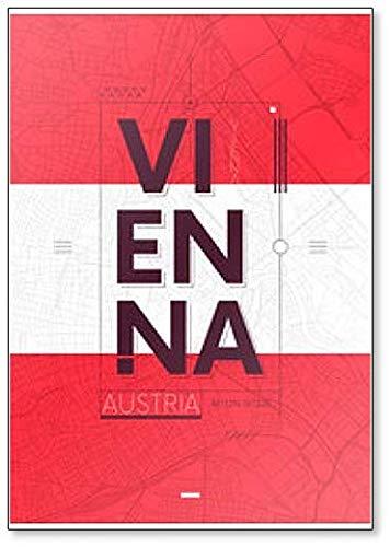 Imán para nevera con diseño de Viena y Austria
