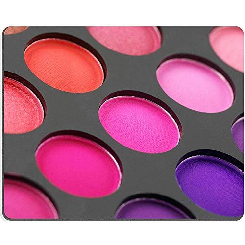 Muis Pad Natuurlijke Rubber Mousepad Afbeelding Id Palet Van Kleurrijke Oogschaduw Close-Up Volledige Frame