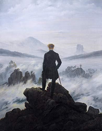 Berkin Arts Caspar David Friedrich Giclée Leinwand Prints Gemälde Poster Reproduktion (Wanderer über dem Nebelmeer)