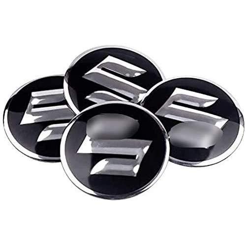 Para Grand Vitara Sx4 Swift Jimny Kizashi Liana Wagon 60mm 4 Piezas Tapas Centrales, Tapacubos Pegatinas Wheel Logotipo Casquillos Hub Caps AutomóViles Accesorios Cubo Coche ProteccióN NeumáTicos