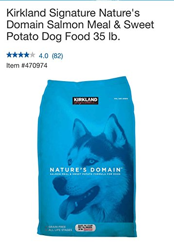 KIRKLAND Nature's Domain Grain-Free All Life Stages Salmon Meal & Sweet Potato Formula for Dogs, 35 LB