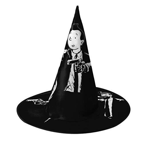 NUJSHF Tintn y Capitn Haddock Pulp Ficcin Sombrero de bruja Halloween Unisex Disfraz para da festivo Halloween Navidad Carnaval Fiesta