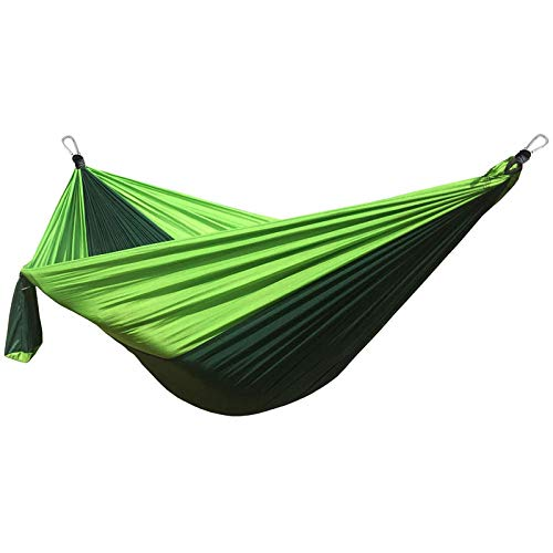HUANXI PortableDoubleGarden Hammock Swing with Storage Bag + Strap,300kg Load Capacity (300x200cm) Green Freestanding Hammock for Garden/Outdoor Camping, Comfortable - Easy to Clean