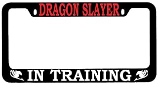 BIN SHANG Dragon Slayer in Training (RED) Black Metal License Plate Frame Fairy Tail -107