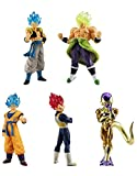 Dragonball Super Conjunto Completo 5 Figuras Colección Broly Movie 01 Bandai Gashapon Son Goku SSGSS Vegeta SSG Broly Full Power Golden Freeza Gogeta SSGSS