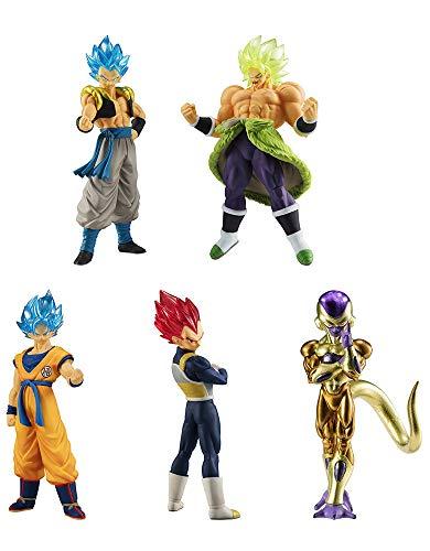 Dragonball Super Conjunto Completo 5 Figuras Colección Broly Movie 01 Bandai Gashapon Son Goku SSGSS Vegeta SSG Broly Full Power Golden Freeza Gogeta SSGSS