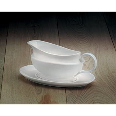 WM Bartleet & Sons Traditional Gravy Boat with Saucer