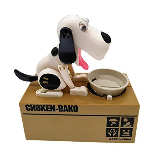 Piggy Bank Robotic Hungry Essen Hund Banco Canino Spardose Money Bank Automatische Stola Münzen-Piggy Bank-Geld-Einsparung-Kasten-Geschenk für Kinder,C
