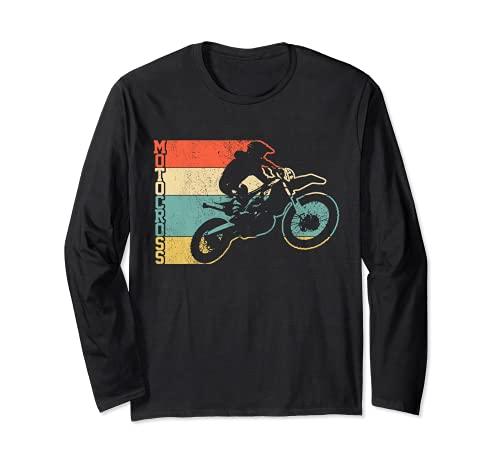 Motocross Vintage Enduro Dirt Bike Moto MX Biker Regalo Maglia a Manica
