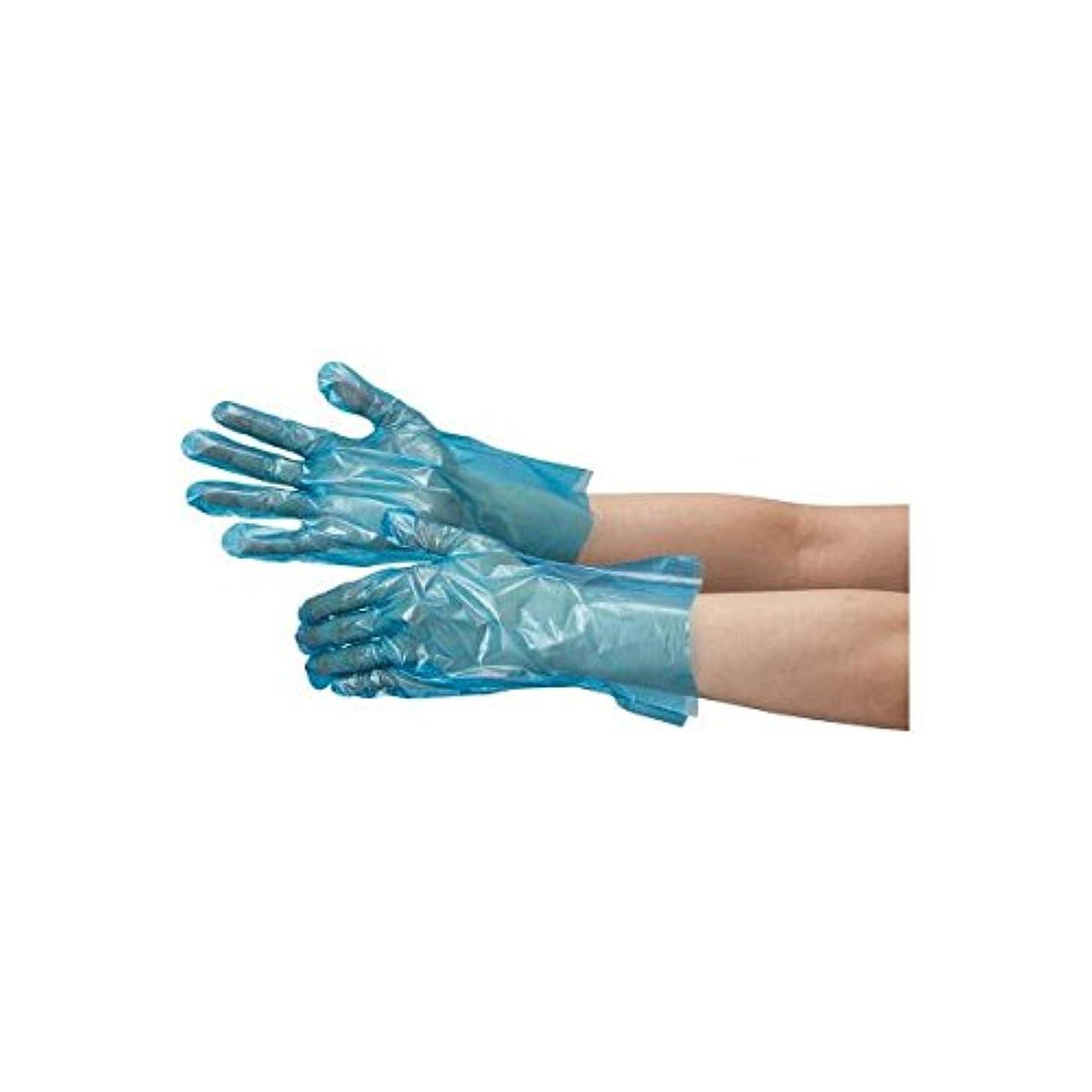 責任助手アドバイスミドリ安全/ミドリ安全 ポリエチレン使い捨て手袋 片エンボス 200枚入 青 L(3888851) VERTE-504-L [その他]