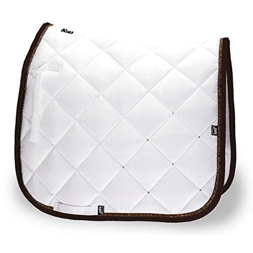 AIKO Tapis de Selle - Crystal Shine - blanc/mocca - Full - Dressage
