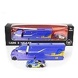 YYQIANG Boxed Racing Carry Story Lightning Toy Car Set Black Storm Container Alloy Car Mejor Regalo para niños pequeños y niñas Aficiones Infantiles (Color : Blue)