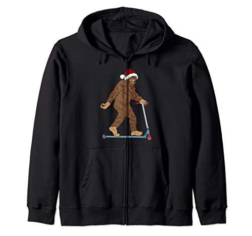 Bigfoot Sasquatch Scooter Weihnachtsmann Weihnachten Kapuzenjacke