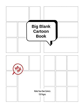 Big Blank Cartoon Book - Make Your Own Comics  Large Sketchbook with Varied Panel Templates for Creating Comic Strips or Drawing Manga