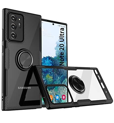 KONEE Hülle Kompatibel mit Samsung Galaxy Note 20 Ultra, Handyhülle Mit 360 ° Verdrehbare Ring [ TPU + PC ], für Magnetischen Autohalterungen, Multifunktions Abdeckung für Galaxy Note20 Ultra 5G