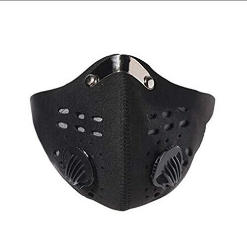 Ademend katoen Sluierwerende haze PM2.5 houtskool-stofmaskers warme wind fiets MTB masker 3pcs (Color : Black, Size : One size)