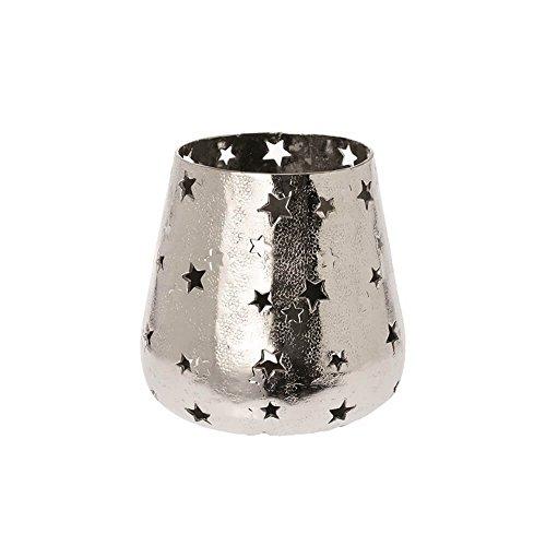Riverdale windlicht sterren van metaal zilver